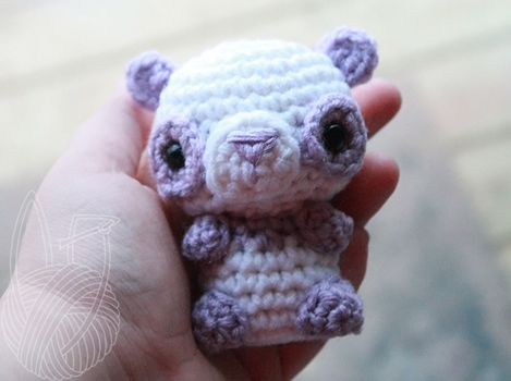 Mini Light Purple Panda by theyarnbunny