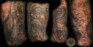 scream face demon cover 1 by 2Face-Tattoo