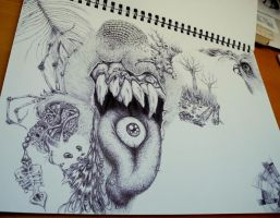 For the Love of Surrealism WIP II by Mireggi