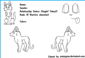 Free Warrior Cat Reference Sheet~ by PannyPan