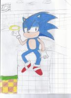 Sonic in Green Hill by tailsdude12