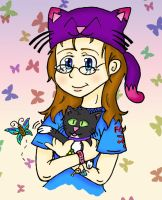 Me and my cat by Hazeloop