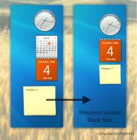 Windows Sidebar Blank Skin by counteralchemist