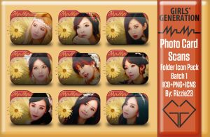 SNSD Mr. Mr. Photo Card Scans Folder Icon Pack 1 by Rizzie23