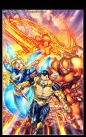 Ultimate Xmen Fantastic Four by diabolumberto
