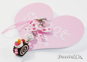 Roll Ribbon Phone Strap by SweetandCo