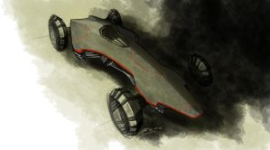 Stealth Car Design by LoccoRico