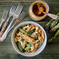 penne with asparagus and garlic peanut butter by Pokakulka