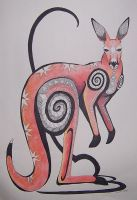 Red Kangaroo - Shamanic by Ravenari