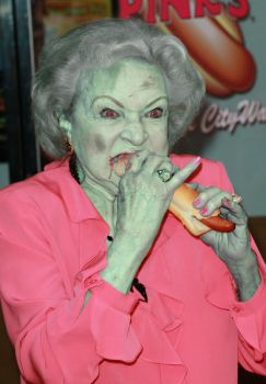 Zombie Betty White by CaptainCraptastrophe