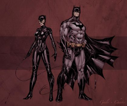 Catwoman and Batman - Chavis by SpiderGuile