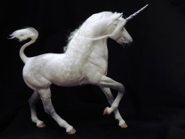 Gray Unicorn Stallion by Ethereal-Beings
