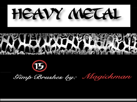Heavy Metal brushes for Gimp by blueeyedmagickman