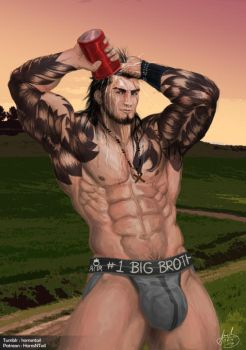 [Fan] Gladiolus - Who's Your #1 Big Bro? by HornsNTail