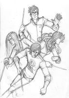 The Trio and Ginny by Catching-Smoke