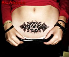 Heartagram Tattoo by maga-a7x