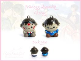 Princess Mononoke Charms by FlyingPandaGirl