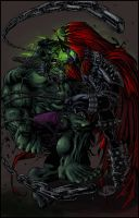 Hulk Vs Spawn by Jats