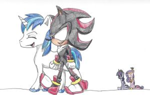 Shadow and Shining Armor-Brotherly Bonding by CyrilSmith
