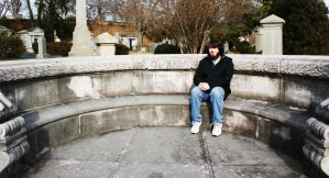 Sitting on a grave by HrWPhotography