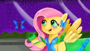 Fluttershy at the gala by omgCheez