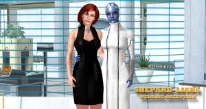 Shepard X Liara    WEDDING RECEPTION    4-17-2015  by blw7920