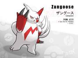 PKMN No.335 - Zangoose by WittNV