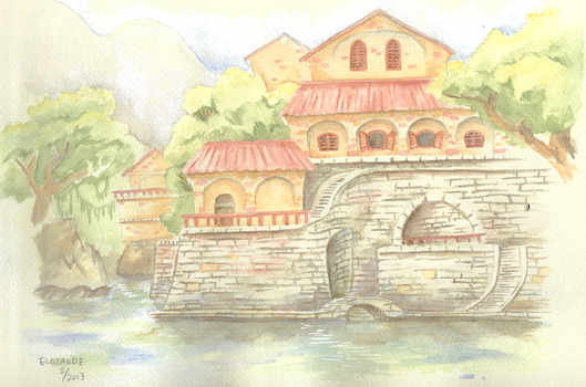 Mansion on a river by Elosande