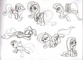MLP Study Sketches - s1e7 - pt. 3 by MadderMike