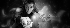 I am the doctor B and W by LOKOS1