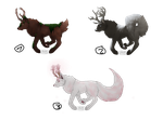 Antlers Themated Canine Adopts (Open 3/3) (Money) by ValinIsDakki