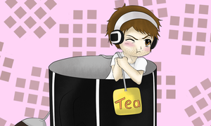 Cup of Tea - Chibi Yamimash by M-G-K