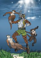 U-T and otters by ScubaTiger