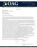 Office of the Auditor General color letterhead by ChadFeldpausch