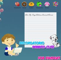 Recordatorio Perrito Cute Skin Xwidget by TiagoEditions
