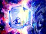 The Cube Spaceship by kiri-stansfield