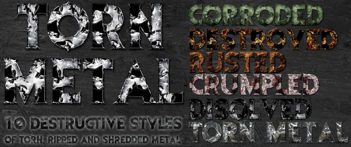 Torn Metal Photoshop Styles by suztv