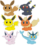 Eevee and forms by jessTheBunnie