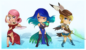 .: COM: Chibi Set :. by PirateHearts