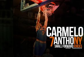 Carmelo Anthony Knicks Wall 5 by Angelmaker666