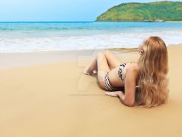Woman on the beach by MotHaiBaPhoto