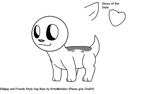 Eddpup and Friends Style Dog Base by KittyMelodies