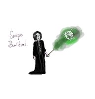 Snape and the mirage by melodicfeline