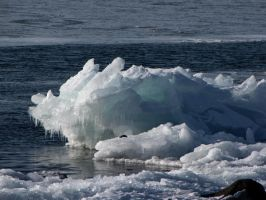 ice build up at Brighten Beach by Nipntuck3