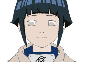 Naruto Original Digital recreation Part 2 - Hinata by trampskey