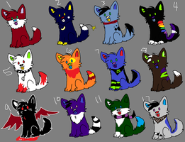Adopts set 1 by Oreo-point-adoptable