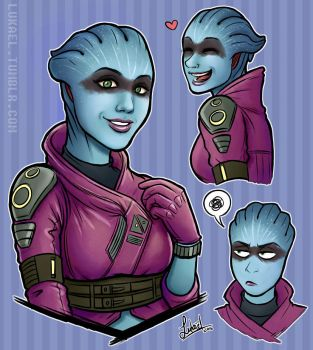 ME:A - Raccoon Asari by Lukael-Art