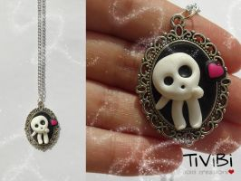 Kodama Princess Mononoke necklace by tivibi