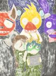 Kirby and I Five Nights at Freddy's (back) by Aurora-ASB