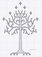 Whte Tree Of Gondor by Barnowler